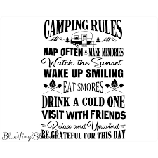 Camping Bucket Decal Camping Bucket Sticker Camping Etsy Camping Rules Camping Bucket
