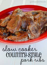 slow cooker crockpot country style pork