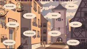 the top 100 german surnames
