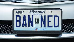 license plates are banned in missouri