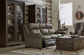 reclining sofa with adjustable headrest