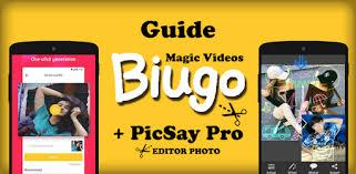 guide biugo picsay pro tutorial apk app descarga gratis para