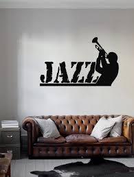Ik209 Wall Decal Sticker Decor Jazz Trumpet Man Playing Trumpet Music Stickersforlife