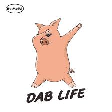 Hotmeini 13cm X 9cm Dab Life Decal Cartoon Hiphop Pig Car Sticker Vinyl Rear Windshield Bumper Decal Waterproof Car Styling Car Stickers Aliexpress