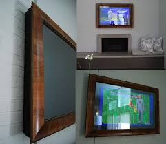 frame your tv using a two way mirror