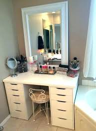 vanity makeup table with lights