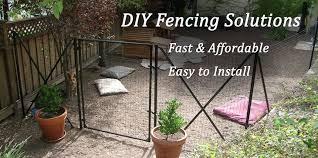 Dog Fencing Best Friend Fence Easy Diy Fence Solution