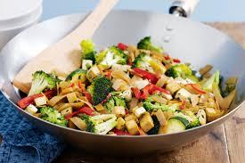 tofu vegetable rice noodle stir fry