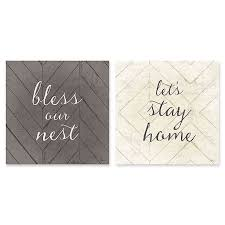 home quotes inch square canvas wall art bed bath beyond