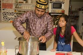 Students from 66 School in Sofia cook with Pakistani chef Saif ur ...