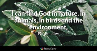 pat buckley i can god in nature in animals in