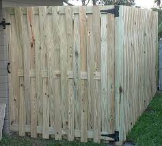 My Back Yard Was Almost Fully Fenced When I Bought My House But The Fence Wasn T Connected To The House Buy My House Diy Fence Privacy Fence Designs