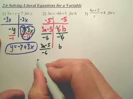 2 6 solving literal equations for a
