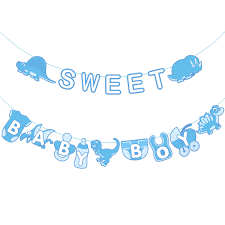2m Sweet Baby Boy Letter Horses Design Paper Bunting Garland Hanging Decorations Kids Boys Room Banner For Baby Shower Birthday Aliexpress