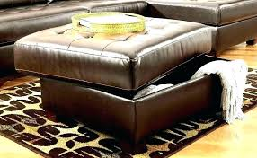 leather ottoman with storage red bench