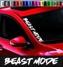 20 Beast Mode Side Windshield Banner Car Decal Sticker Jdm 4x4 Street Racing Wish