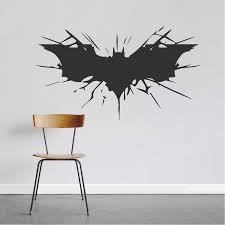 Bat Wall Decal Large Boys Bedroom Wall Designs Hero Room Stickers Boys Room Wallpaper Art Trendy Wall Designs Batman Wall Batman Wall Art Bedroom Wall Designs