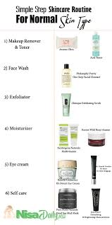 skincare routine for normal skin type