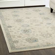 ivory blue area rug reviews wayfair ca