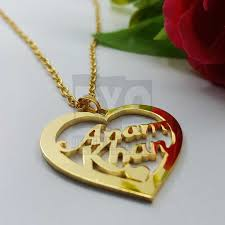personalized name necklace single