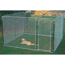 Fence Master Silver Series 10 Ft W X 6 Ft H X 10 Ft L Steel Outdoor Pet Kennel Secor Lumber Company Inc