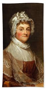 Abigail Smith Adams By Gilbert Stuart Beach Towel for Sale by Cora ...