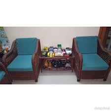 cane sofa set 3 seater 2 chairs 1
