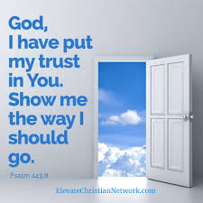 inspirational quote god i have put my trust in you trust in god