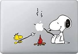 Amazon Com Snoopy Bbq Decal Color Sticker For Macbook Pro Laptop Computer Decorative Vinyl Stickers Mac Air Fits 13 And 15 Inch Computers Accessories