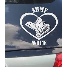Decal Army Wife Wall Or Window Decal 9 X 9 Walmart Com Walmart Com