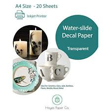 Hayes Paper Waterslide Decal Paper Inkjet Clear 20 Sheets Premium Water Slide Transfer Transparent Printable Water Slide Decals A4 Size Walmart Com Walmart Com