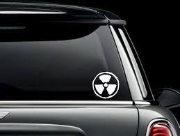 Grunge Radioactive Symbol Custom Car Truck Van Window Or Etsy