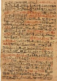 One column of the Edwin Smith papyrus. This papyrus, written in ...