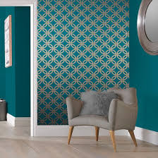 Eternity Teal And Copper Wallpaper Teal Living Rooms Teal And Gold Wallpaper Wallpaper Living Room