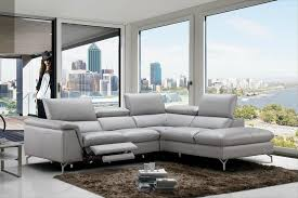 refined 100 italian leather sectional