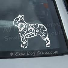 Paisley Boston Terrier Decal Sew Dog Crazy