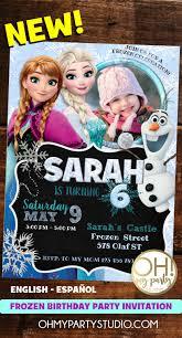 Frozen Birthday Invitation Frozen Disney Tarjetas De Cumpleanos