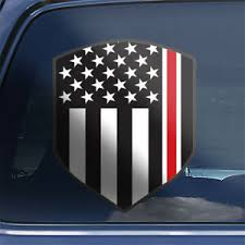 Thin Red Line Nurse Rn Cna Lpn Cns Np Usa American Flag Shield Car Decal Sticker Ebay