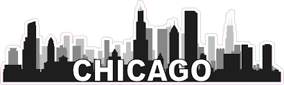 10in X 3in Chicago Skyline Sticker Travel Car Window Decal Bumper Stickers Stickertalk