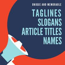 create catchy lines slogans names