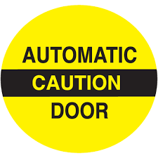 Caution Automatic Door And Window Decal Stickers Seton Seton