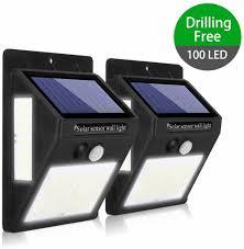 kaulsoue 100 led solar outdoor lights
