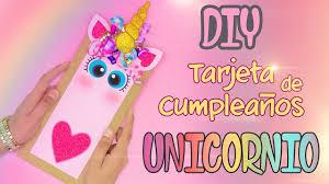 Diy Tarjeta De Felicitacion De Unicornio Youtube