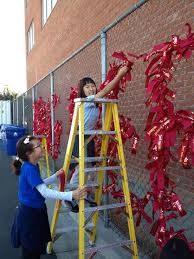 Tie A Red Ribbon To The Chain Link Fence Red Ribbon Garden Projects Chain Link Fence