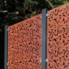 Buy Garden Screen Post Fixings Contemporary Metal Fencing Burford Garden Company