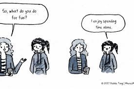 ilustrasi yang cuma dipahami para introvert sejati