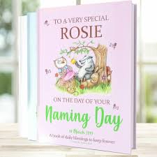 personalised baby naming day gift book
