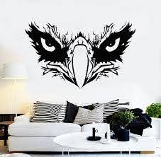 Vinyl Wall Decal Eagle Beak Head American Tribal Bird Stickers Mural Wallstickers4you