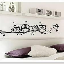 Ussore Vinyl Art Decal Cartoon Owl Butterfly Wall Sticker Decor Home Decal For Kids Home Living Room Bedroom Bathroom Kitchen Office Wallpaper Prettyhomedecor