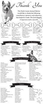 003271 Park County Animal Shelter Races Thank You Ads Codyenterprise Com